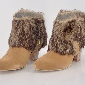 IMAN Shoes - New IMAN Ankle Boots Brown 9M with Fur & Sequins